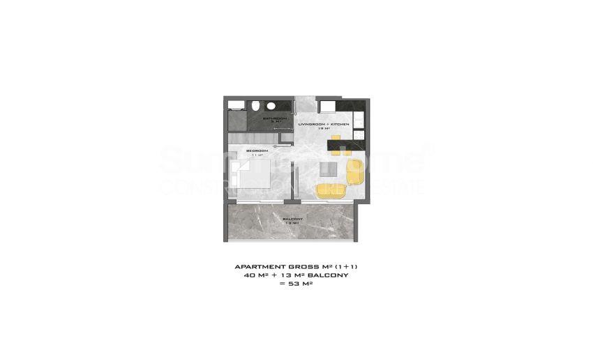 阿拉尼亚中心的全新公寓,位置理想 plan - 3