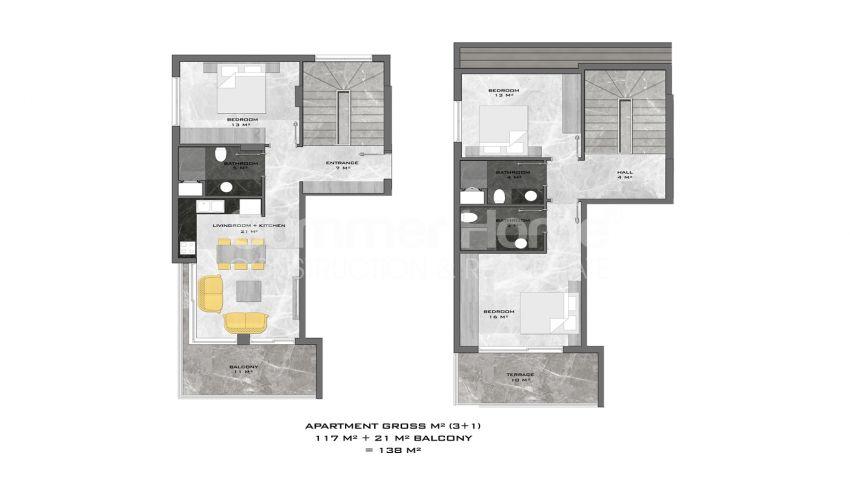 阿拉尼亚中心的全新公寓,位置理想 plan - 4