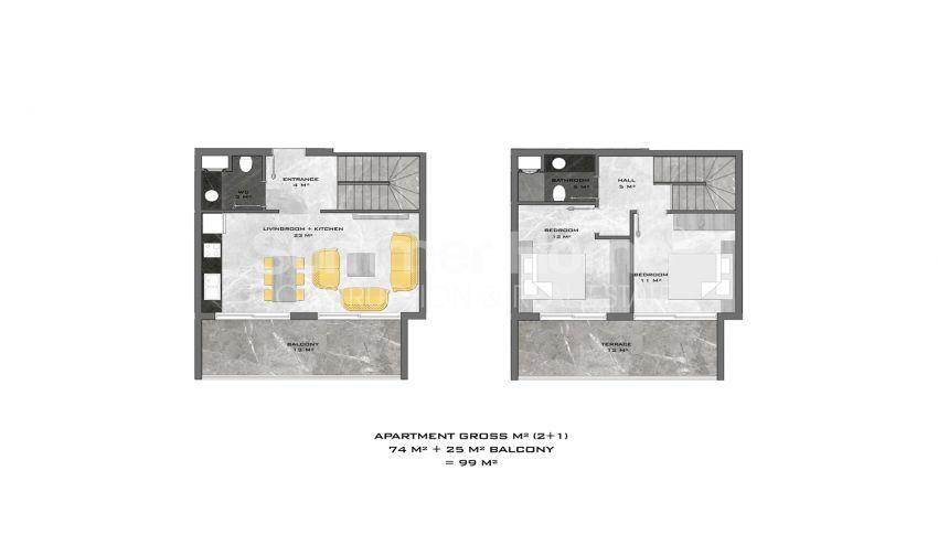 阿拉尼亚中心的全新公寓,位置理想 plan - 5
