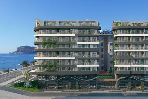 Verbazingwekkende appartementen aan de kust met luxe faciliteiten in Alanya