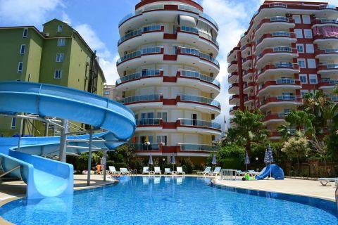 Mooi gemeubileerd appartement in het populaire oord Mahmutlar, Alanya