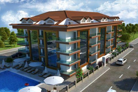 Gezellige betaalbare appartementen dichtbij het strand in het centrum van Alanya