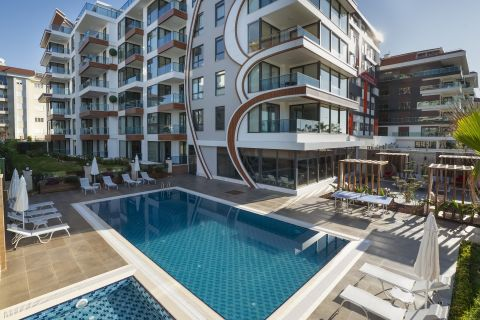 Luxury Apartments on Beachfront Location in Kestel, Alanya