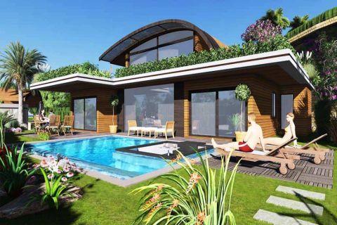 Verbazingwekkende vrijstaande villa's met panoramisch uitzicht op zee in Bodrum