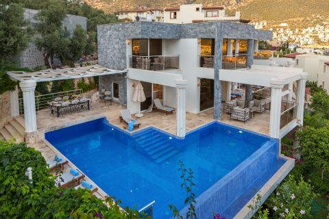 Spacious Sea View Villa with Pool in Central Location of Kas,Antalya