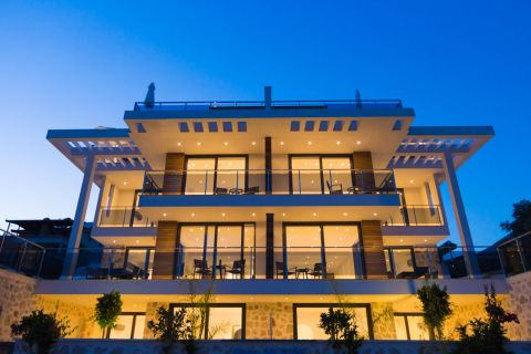 Magnificent Sea View Apartment with Funitures at the Seaside of Kalkan,Antalya
