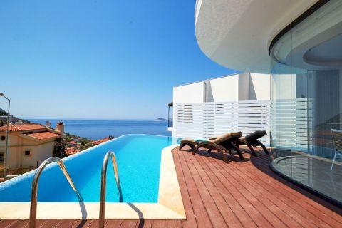 Unique Designed Villa with Privacy on the Hillside of Kalkan,Antalya