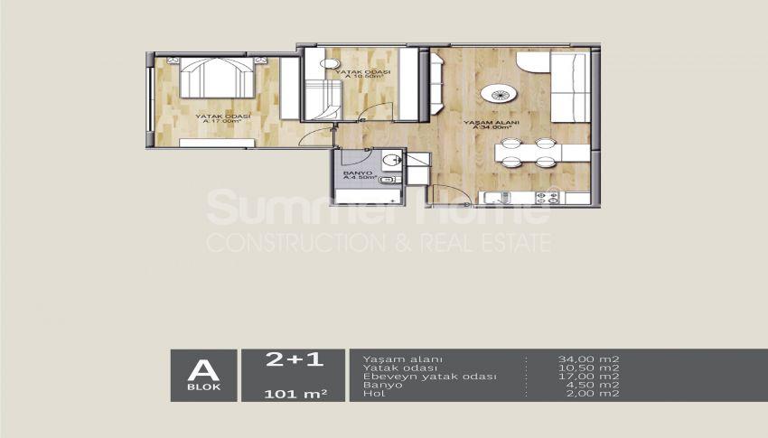 靠近伊斯坦布尔中心的舒适住宅,设计豪华 plan - 1