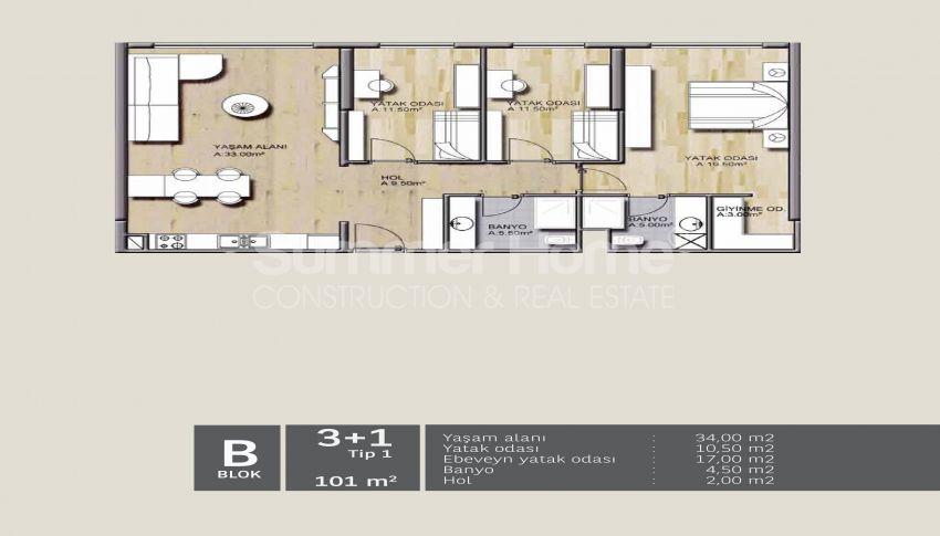 靠近伊斯坦布尔中心的舒适住宅,设计豪华 plan - 2