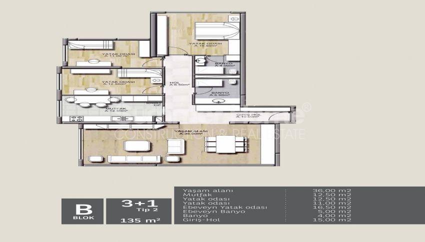 靠近伊斯坦布尔中心的舒适住宅,设计豪华 plan - 3