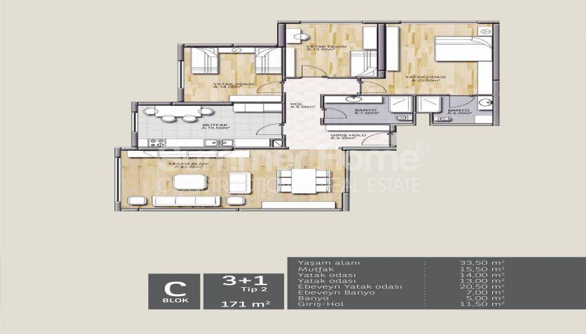 靠近伊斯坦布尔中心的舒适住宅,设计豪华 plan - 4