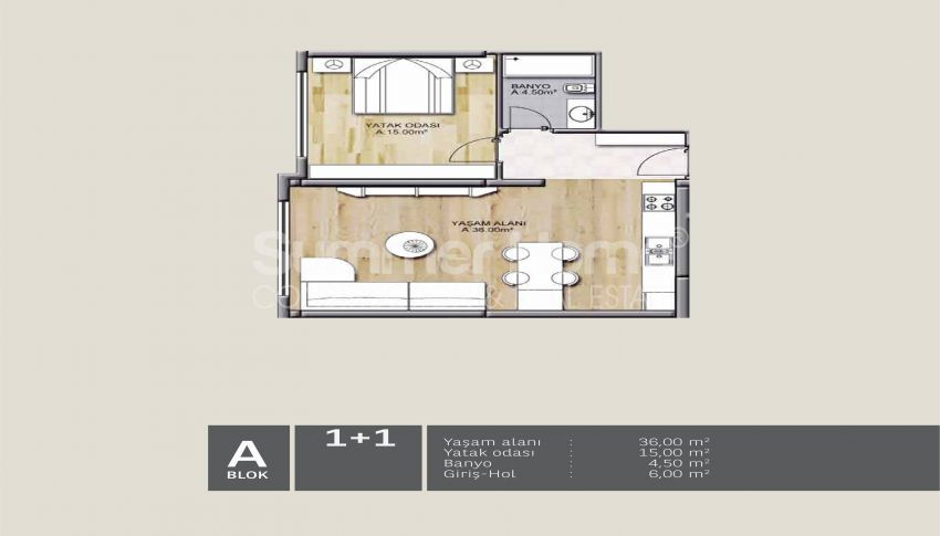 靠近伊斯坦布尔中心的舒适住宅,设计豪华 plan - 5