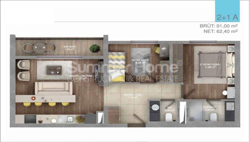 伊斯坦布尔中心的五星级标准的优价公寓 plan - 2