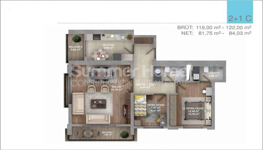 伊斯坦布尔中心的五星级标准的优价公寓 plan - 4