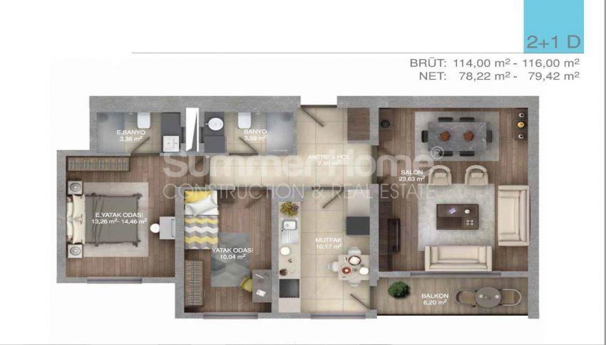 伊斯坦布尔中心的五星级标准的优价公寓 plan - 5