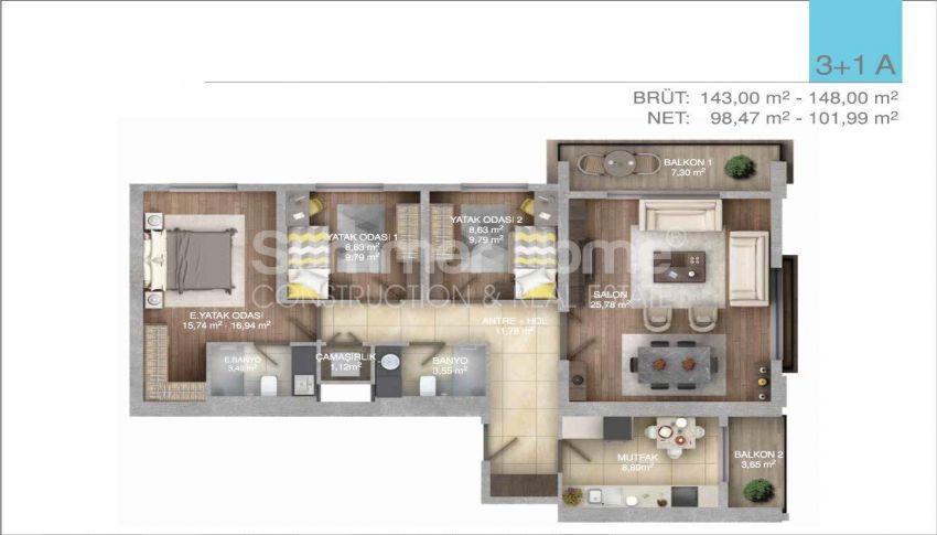 伊斯坦布尔中心的五星级标准的优价公寓 plan - 6