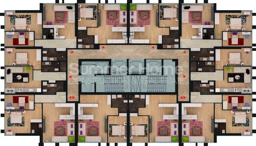آپارتمان ها با قیمت مناسب و امکانات عمومی در استانبول مرکزی plan - 2