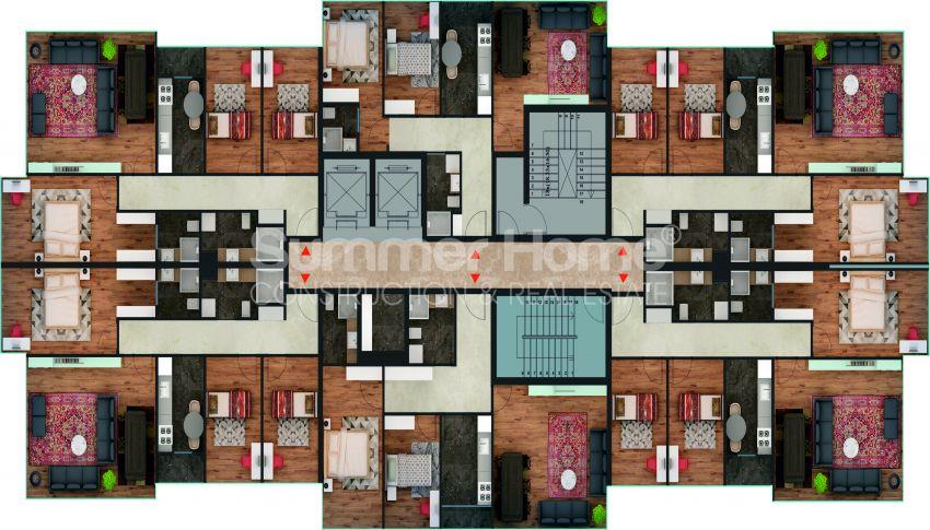 آپارتمان ها با قیمت مناسب و امکانات عمومی در استانبول مرکزی plan - 3