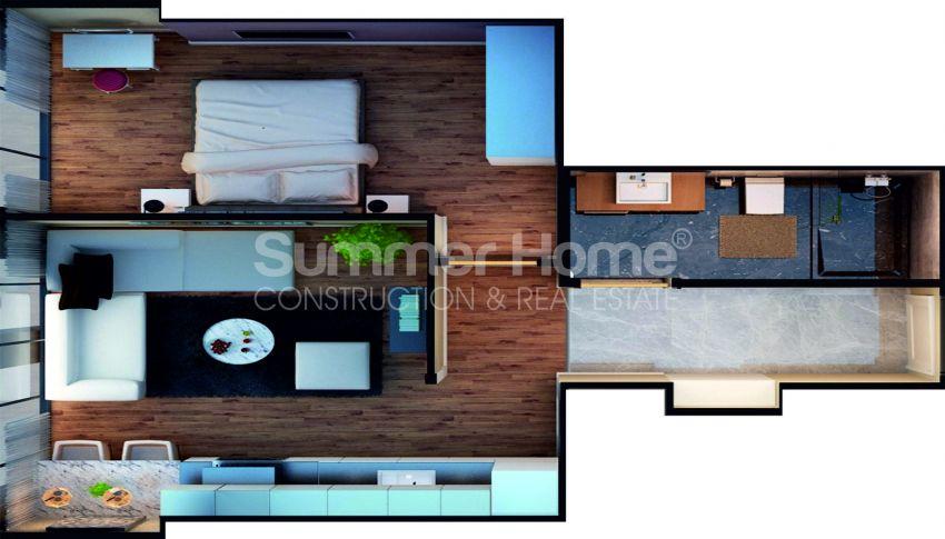 آپارتمان ها با قیمت مناسب و امکانات عمومی در استانبول مرکزی plan - 4