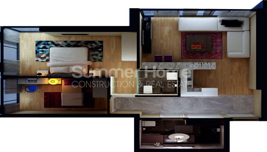 آپارتمان ها با قیمت مناسب و امکانات عمومی در استانبول مرکزی plan - 5