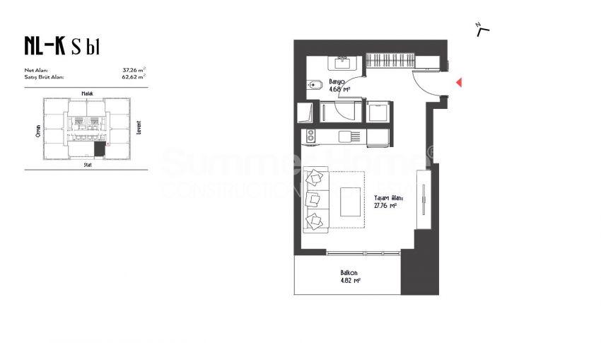 伊斯坦布尔市中心的设计豪华的城市美景公寓 plan - 4