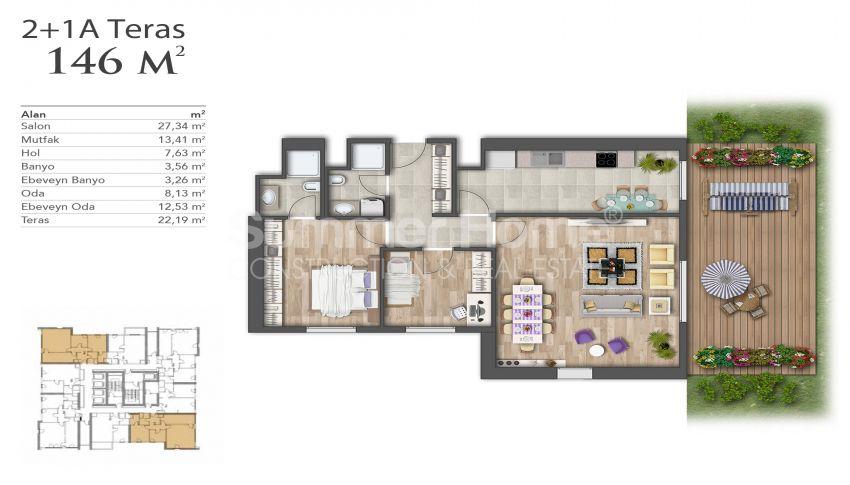 Nouveaux appartements de luxe à prix avantageux dans le centre d'Istanbul plan - 1