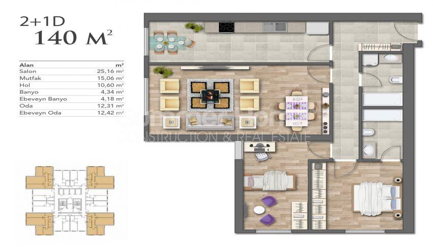 Nouveaux appartements de luxe à prix avantageux dans le centre d'Istanbul plan - 2