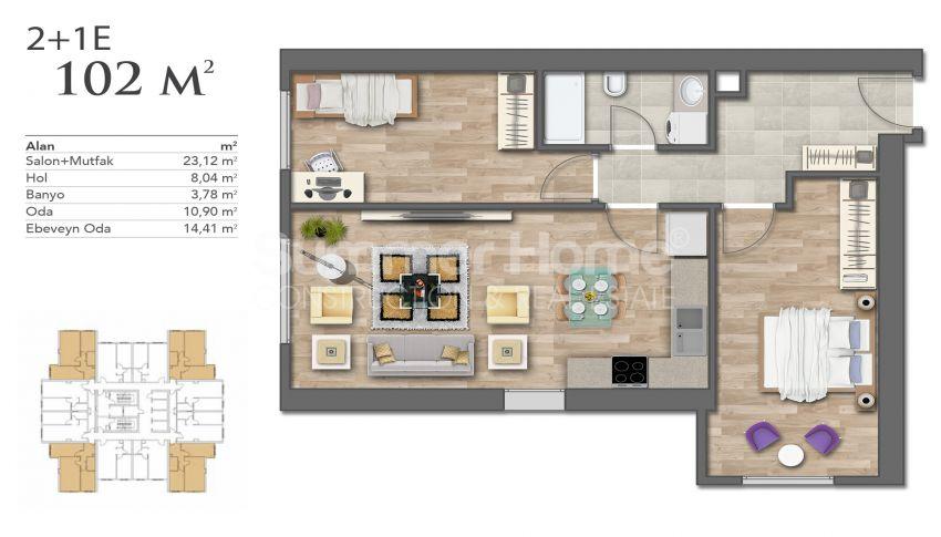 Nouveaux appartements de luxe à prix avantageux dans le centre d'Istanbul plan - 3