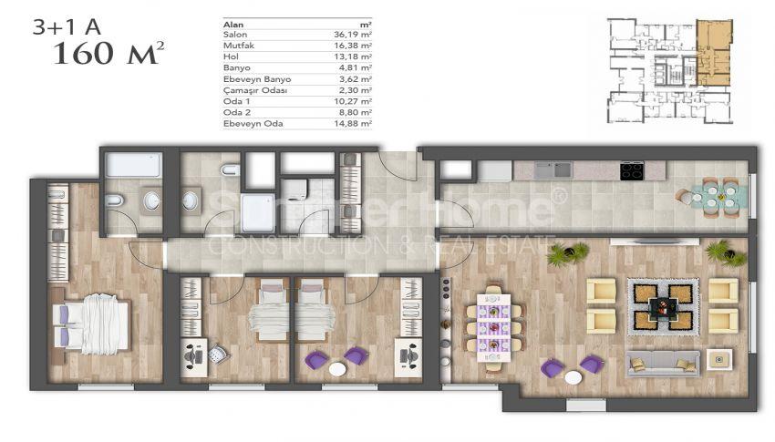 Nouveaux appartements de luxe à prix avantageux dans le centre d'Istanbul plan - 4