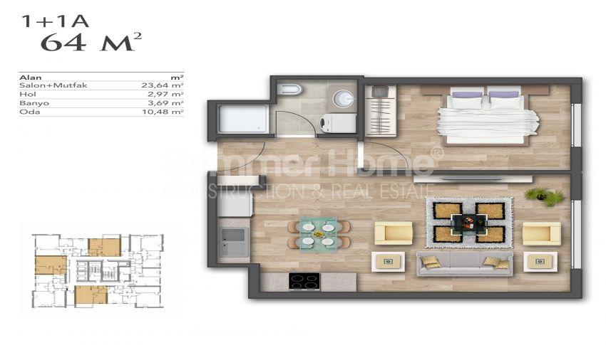 Nouveaux appartements de luxe à prix avantageux dans le centre d'Istanbul plan - 5