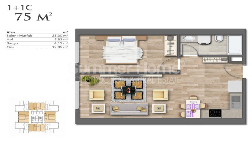 Nouveaux appartements de luxe à prix avantageux dans le centre d'Istanbul plan - 6