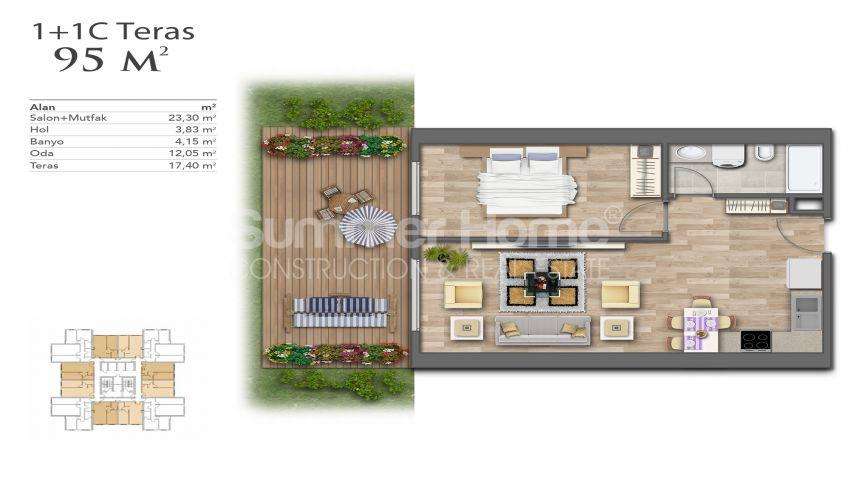 Nouveaux appartements de luxe à prix avantageux dans le centre d'Istanbul plan - 7