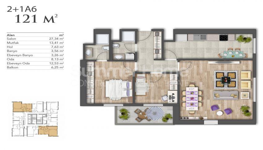 Nouveaux appartements de luxe à prix avantageux dans le centre d'Istanbul plan - 8