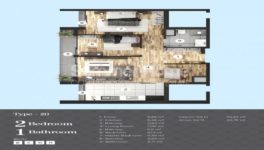 Appartements de haut standing à proximité de toutes les commodités dans le centre d'Istanbul plan - 1