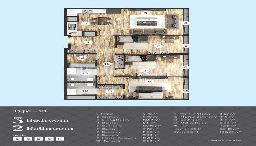 Appartements de haut standing à proximité de toutes les commodités dans le centre d'Istanbul plan - 2