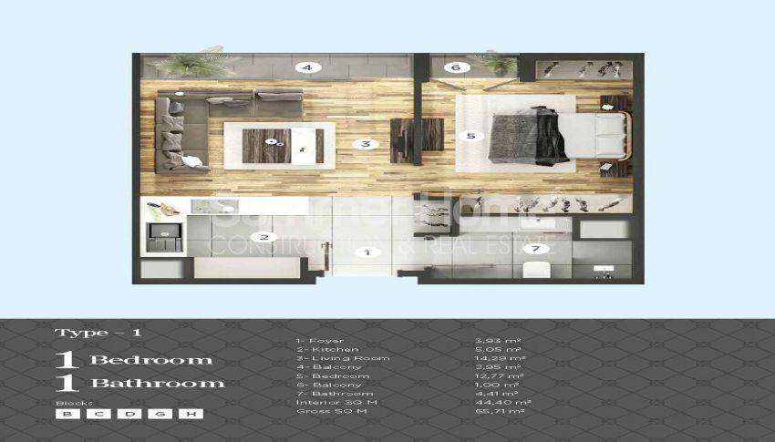 Appartements de haut standing à proximité de toutes les commodités dans le centre d'Istanbul plan - 3
