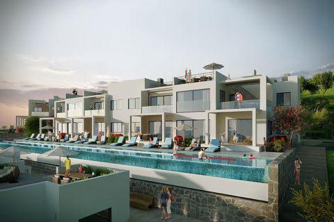 آپارتمان های لوکس با استخر بی نهایت در موقعیت هیل در اسنتپه، قبرس شمالی