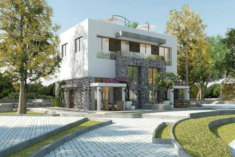 پروژه با نام تجاری جدید با نمایش آب و هوا و نمایش غروب آفتاب در قبرس