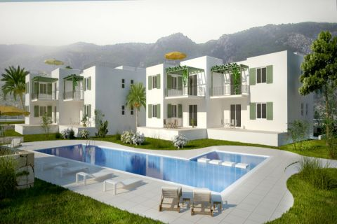 Moderne Wohnungen an der Küste von Esentepe, Zypern