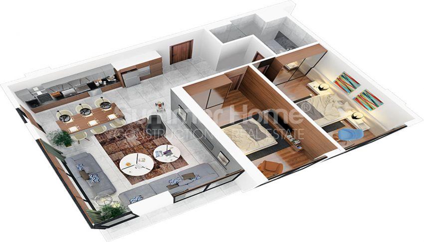 آپارتمان های مقرون به صرفه مدرن در نزدیکی مرکز خرید در فاماگوستا، قبرس plan - 2