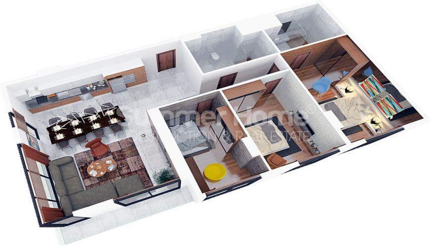 آپارتمان های مقرون به صرفه مدرن در نزدیکی مرکز خرید در فاماگوستا، قبرس plan - 3