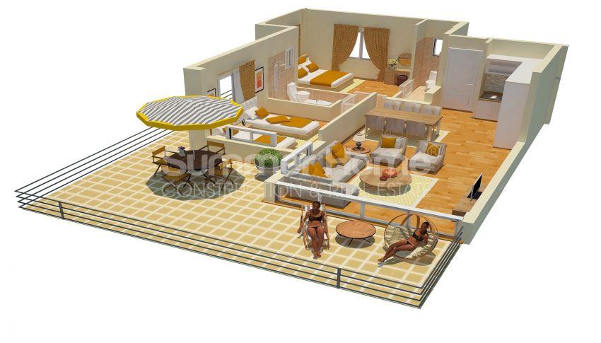 Appartements abordables en bord de mer dans le complexe Cozy à Kyrenia, Chypre plan - 1