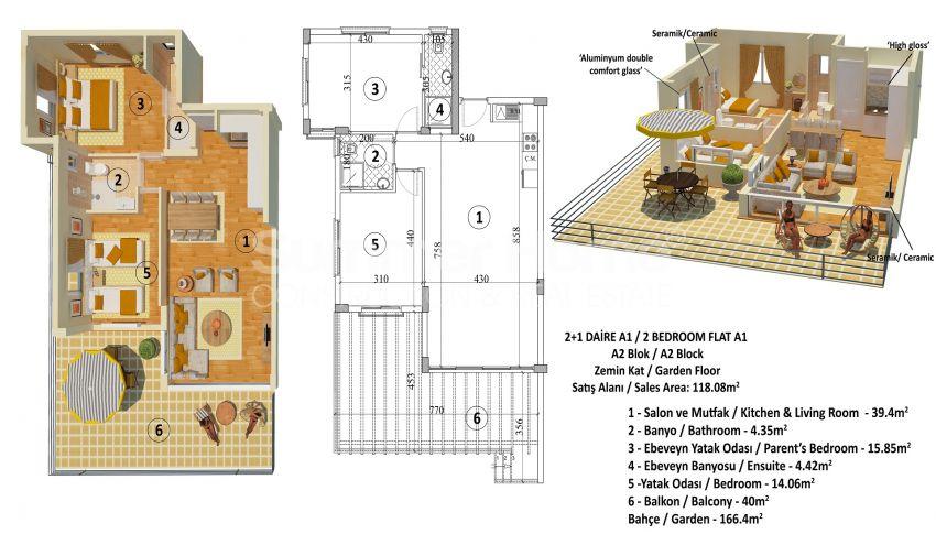Appartements abordables en bord de mer dans le complexe Cozy à Kyrenia, Chypre plan - 2
