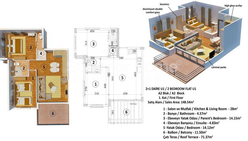 Appartements abordables en bord de mer dans le complexe Cozy à Kyrenia, Chypre plan - 5