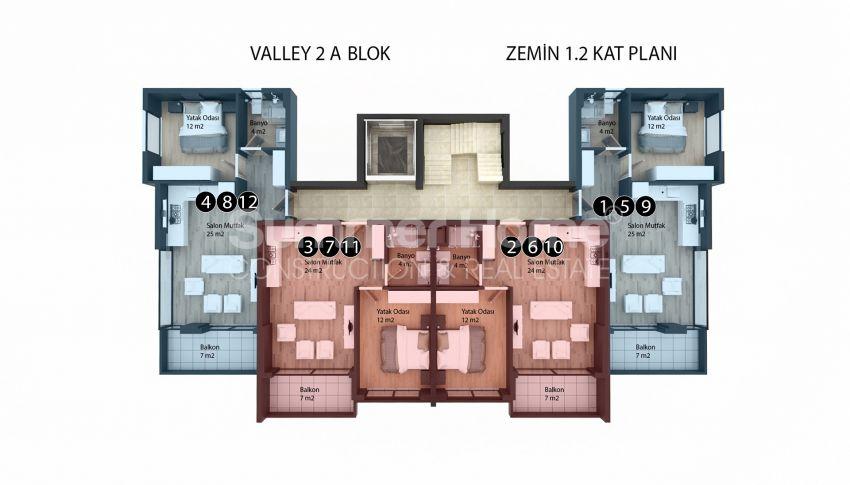 Appartements modernes entourés par la nature à Alanya, Kestel plan - 1