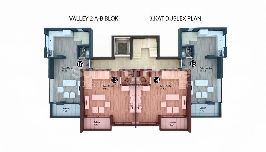 Appartements modernes entourés par la nature à Alanya, Kestel plan - 2