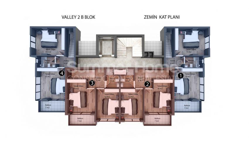 Appartements modernes entourés par la nature à Alanya, Kestel plan - 5