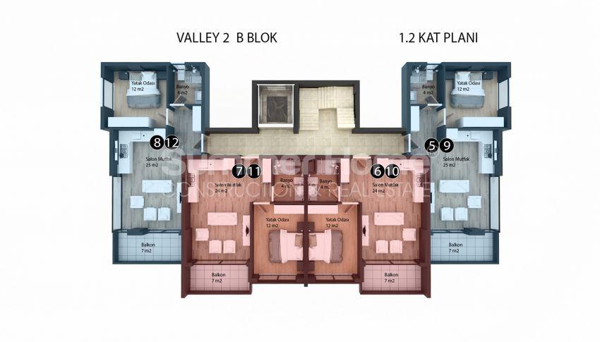 Appartements modernes entourés par la nature à Alanya, Kestel plan - 6
