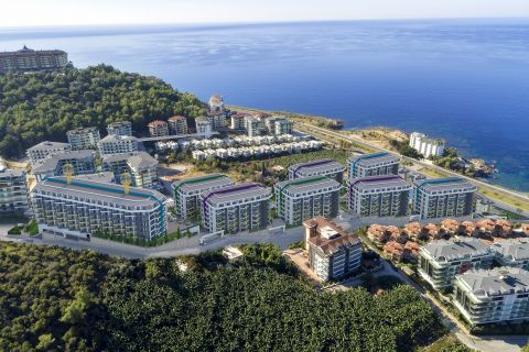 Cozy Apartments with Remarkable Sea View at the Seaside Resort of Alanya