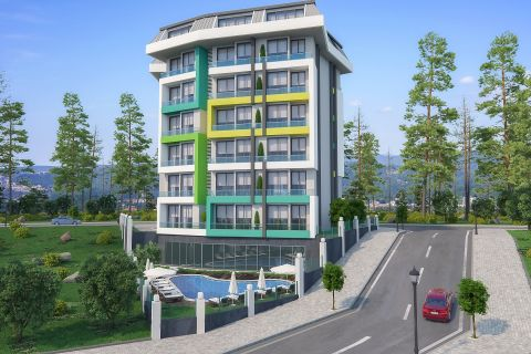 1+1 Apartments with Low Price Near the Sea in Avsallar, Alanya